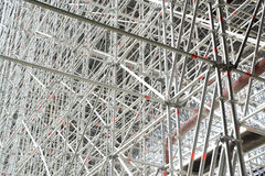 Enormous scaffolding for a bridge Stock Images