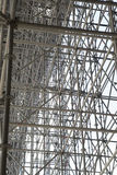 Enormous scaffolding for a bridge Stock Photography
