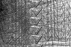 Enormous scaffolding, texture structure Royalty Free Stock Images