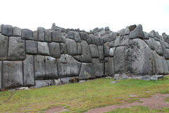 Enormous Stone Wall in Sacsayhuaman. Stone wall showing Incan stonework in Sacsayhuaman in Cusco, Peru Stock Photography