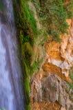 Enormous waterfall `Cola del caballo`. In the Natural park of Monasterio de Piedra in Nuevalos, Zaragoza, Spain stock images