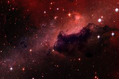 Enormt av djupt utrymme Miljarder av galaxer i universumet royaltyfri illustrationer