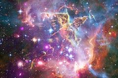 Enormt av djupt utrymme Miljarder av galaxer i universumet stock illustrationer