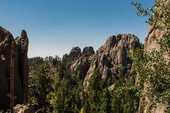 Enormt berglandskap på den Black Hills nationalskogen, South Dakota, USA arkivfoto