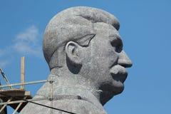 Enormt huvud av den sovjetiska diktatorn Joseph Stalin Fotografering för Bildbyråer