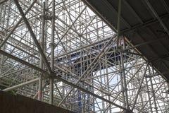 Enormt material till byggnadsställning för en bro Royaltyfria Foton