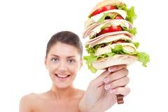 enormt super för hamburgare Royaltyfri Bild