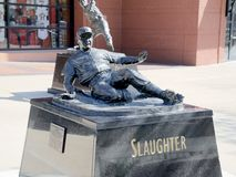 Enos Slaughter Statue, Outside Busch Stadium St. Louis Stock Photos