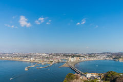 Enoshima市Arial视图  库存图片