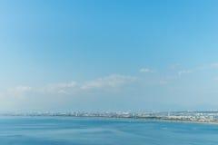 Enoshima市Arial视图  库存照片