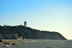 Enoshima durante l'autunno. immagine stock libera da diritti