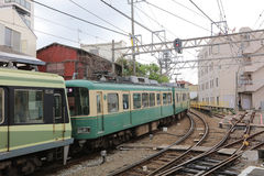 Enoden Line in Kamakura, Japan Stock Images