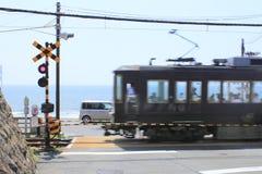 Enoshima Electric Railway and sky Stock Photos