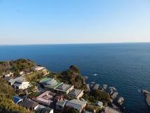 Enoshima, Meerblick von oben Lizenzfreie Stockfotos