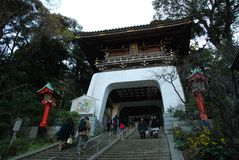 Enoshima Shrine. Enoshima shinto Shrine on Enoshima Island in Fujisawa, Kanagawa, Japan Royalty Free Stock Photos