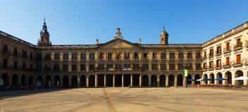 Enparantza Berria (New Square) and city hall. Vitoria-Gasteiz Stock Photography