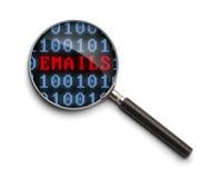 Enquête d'email Photo stock