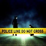 Enquête de scène du crime illustration de vecteur