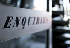 Enquiries Stock Photo