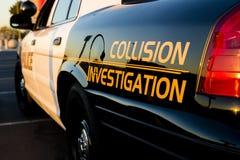 Enquête de collision Photographie stock libre de droits