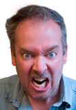 Enrage. A man is furious about something Stock Photography