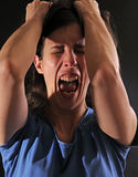 enraged женщина стоковое изображение rf