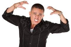 enraged человек latino стоковые фото
