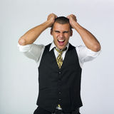 Enraged businessman Stock Photography