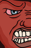 Enraged Face. Close up illustration of a red enraged face Stock Photos