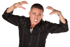 Enraged Latino Man Stock Photos