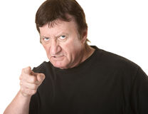 Enraged Mature Man Stock Photo