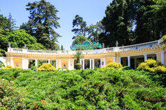 The enrance to arboretum in Sochi, Russia. Summer day Stock Photo