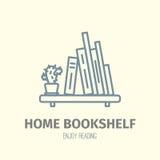 Enrarezca el icono alineado del estante de librería Foto de archivo libre de regalías