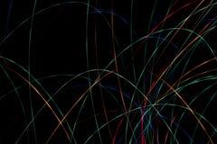 Enrarezca las rayas coloreadas Foto de archivo