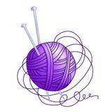 Enredo con la cuerda de rosca púrpura (color) Foto de archivo