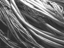 Enredo de alambres coaxiales Foto de archivo