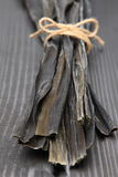 Enredo de mar secado para la acción de sopa japonesa Imagen de archivo