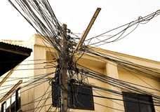 Enredo del cable eléctrico Imagen de archivo libre de regalías