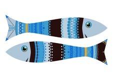 Enredo del zen de los pescados del suspiro del zodiaco Fotos de archivo
