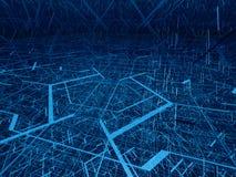 Enredo diagonal de la fibra ilustración del vector