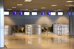 Enregistramiento de la terminal de aeropuerto Fotografía de archivo libre de regalías