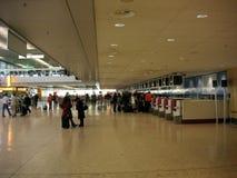 Enregistramiento del aeropuerto Foto de archivo libre de regalías