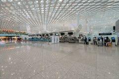 Enregistramiento del aeropuerto de Shenzhen Fotografía de archivo libre de regalías
