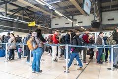 Enregistramiento en el aeropuerto fotos de archivo libres de regalías
