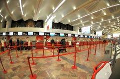 Enregistramiento en el aeropuerto de Wiena Fotografía de archivo libre de regalías