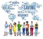 Enregistrant à finances le concept global d'économie mondiale de finances photo libre de droits