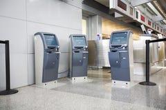 Enregistrement d'aéroport Photographie stock