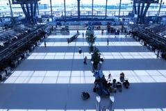 Enregistrement d'aéroport Images libres de droits