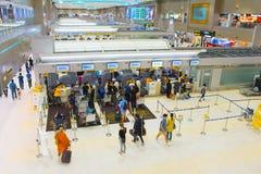 Enregistrement d'aéroport de Don Mueang, Thaïlande Photo stock
