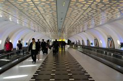 Enregistrement d'Abu Dhabi Airport Images libres de droits